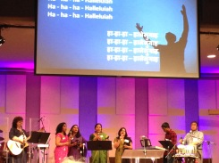 The team leading Worship Service